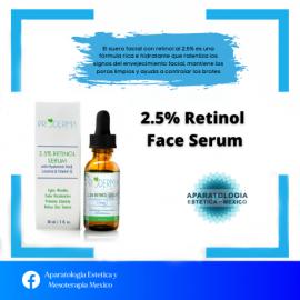 Suero facial de retinol al 2,5%