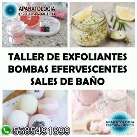 Taller de elaboracion de exfoliantes + sales terapeuticas+ bombas eferveecentes + jelly spa