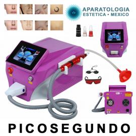 Picosegundo - Picosecond laser Alejandrita 755+16064nm - 532nm+1320nm para remover tatuajes o Hollywood peel